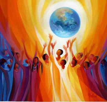 """Women Singing the Earth©""Artist: Mary Southard, CSJ"